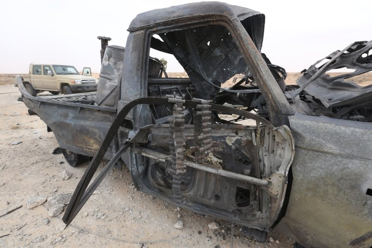 Hafter milisleri, başkentin güneyinden çekilirken DEAŞ'ın mayın tuzaklama taktiğine başvurdu