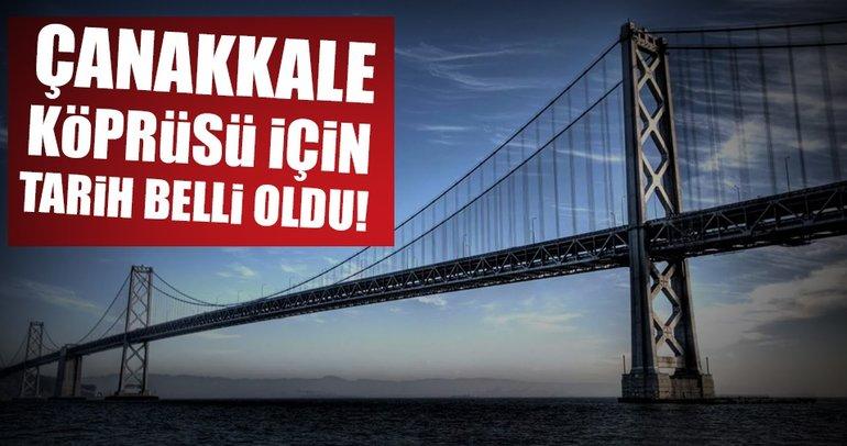 Bakan Arslan, 1915 Çanakkale Köprüsü için tarih verdi