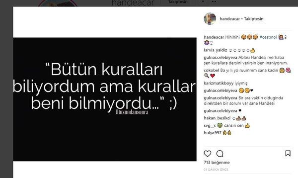 Ünlü isimlerin Instagram paylaşımları (15.01.2018)
