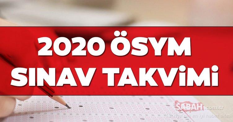 ÖSYM sınav takvimi 2020 açıklandı! LGS, YKS, MSÜ, DGS, YDS, TUS, YÖKDİL, ALES ve KPSS sınavı ne zaman, hangi tarihte?