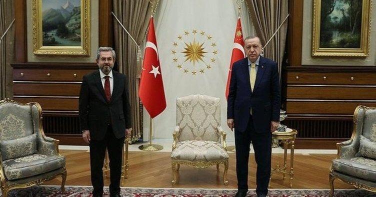 Cumhurbaşkanı Erdoğan üç üniversitenin rektörünü kabul etti