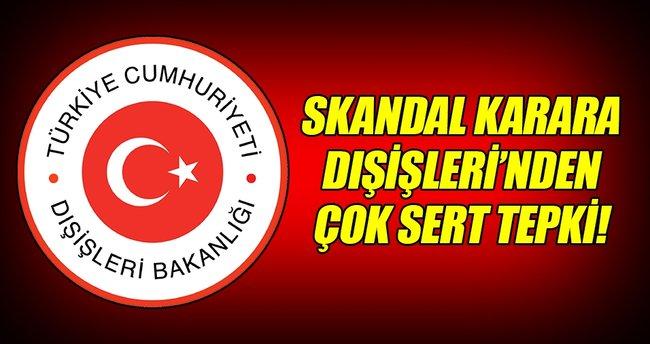 Dışişlerinden Irak'ın Türk askeri kararına sert tepki!