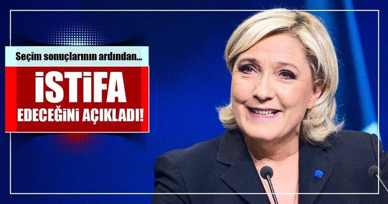 Le Pen parti başkanlığından istifa edecek