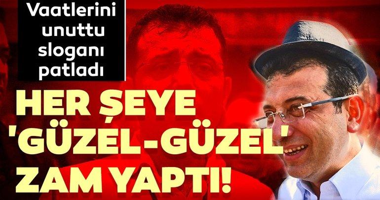 Vaatlerini unutan İmamoğlu İstanbulluyu zama boğdu