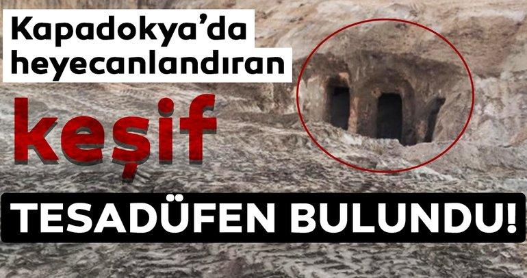 Kapadokya'da tarih fışkırmaya devam ediyor! Tesadüfen bulundu