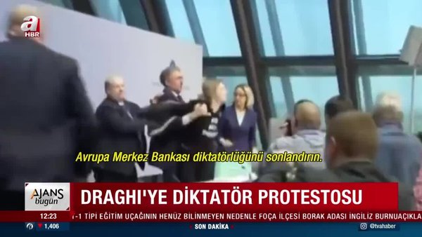 İtalya Başbakanı Draghi'ye diktatör protestosu yapılmıştı | Video