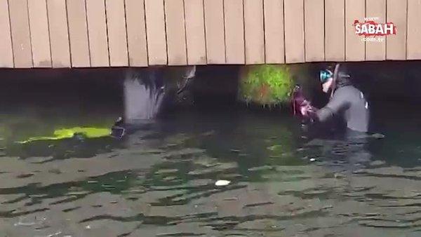 Üsküdar'da Sahil Güvenlik ekiplerinin kedi kurtarma operasyonu kamerada | Video