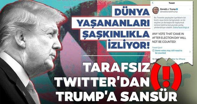 SON DAKİKA HABER   Dünya yaşananları şaşkınlıkla izliyor! Tarafsız Twitter'dan(!) Trump'a sansür! - Son Dakika Haberler