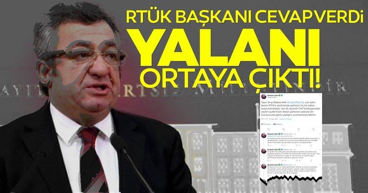 RTÜK Başkanı cevap verdi, CHP'li Engin Altay'ın yalanı ortaya çıktı