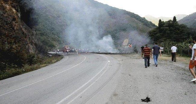 Antalya - Kemer Karayolu üzerinde patlama
