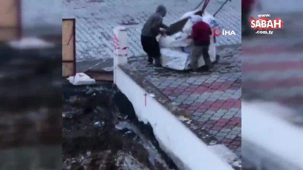 Kağıt toplayıcı kılığındaki hırsızlar kamerada | Video
