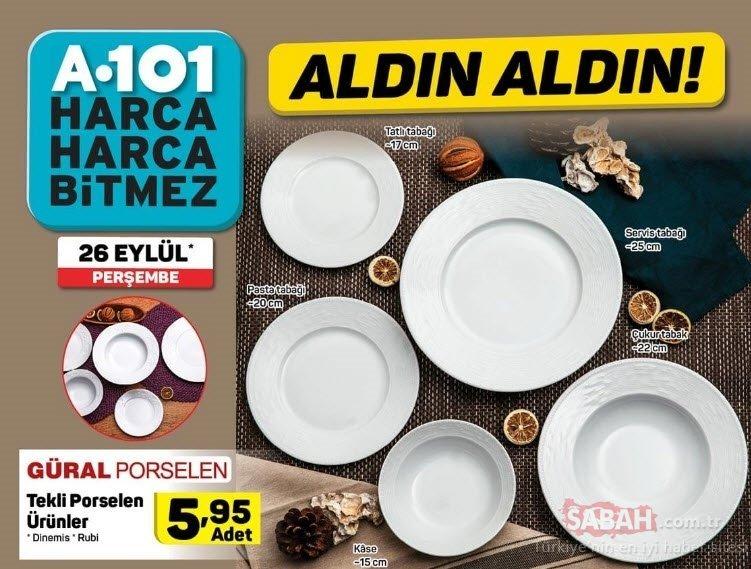 A101 aktüel ürünler kataloğu yayınlandı! 26 Eylül Perşembe A101 aktüel ürünler listesinde bu hafta neler var?