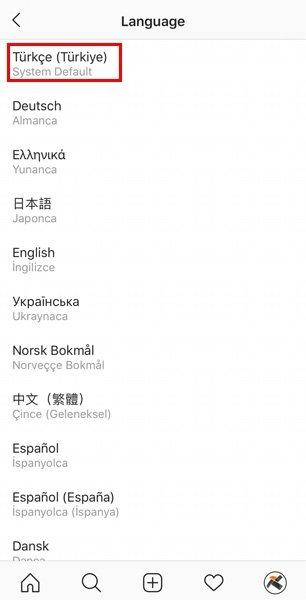 Instagram'ı İngilizce'den Türkçe'ye çevirme! Instagram'da Türkçe dil ayarı nasıl yapılır?