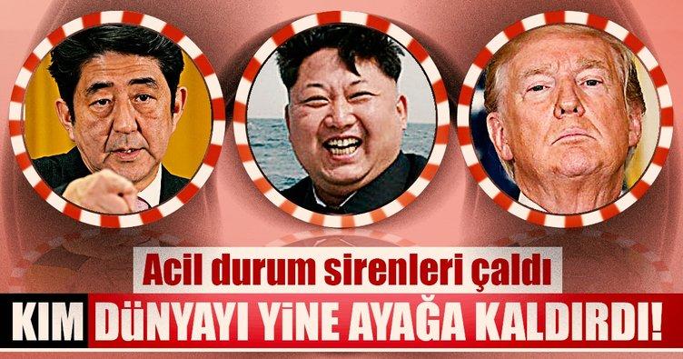 Son dakika: Kuzey Kore'nin fırlattığı füze Japonya'nın üzerinden geçti