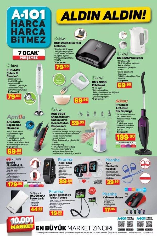 A101 7 Ocak 2021 Perşembe aktüel ürünler kataloğu ile dev indirimleri kaçırmayın! Haftanın A101 aktüel ürünler kataloğu yine dopdolu!