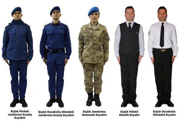 Jandarma yeni kıyafetleri ile görev başında