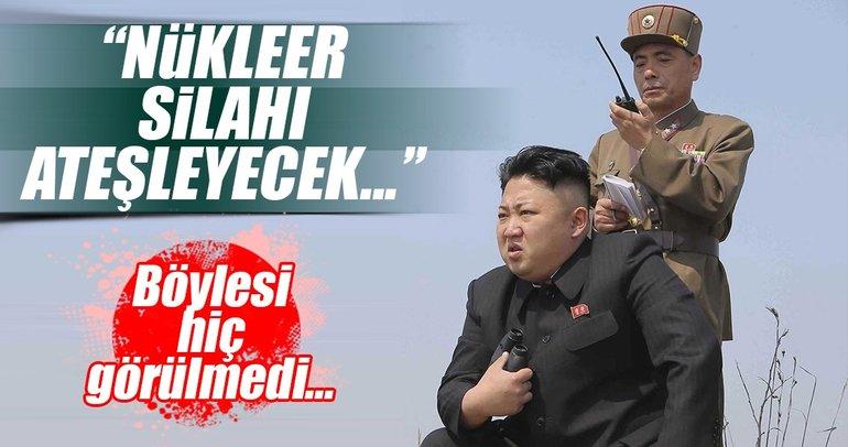 Kim Jong Un: Nükleer silahları ateşleme düğmesi masamda