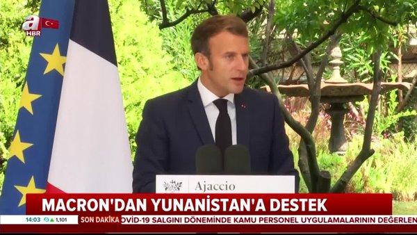Fransa Cumhurbaşkanı Macron'dan Türkiye'yi hedef alan açıklama   Video