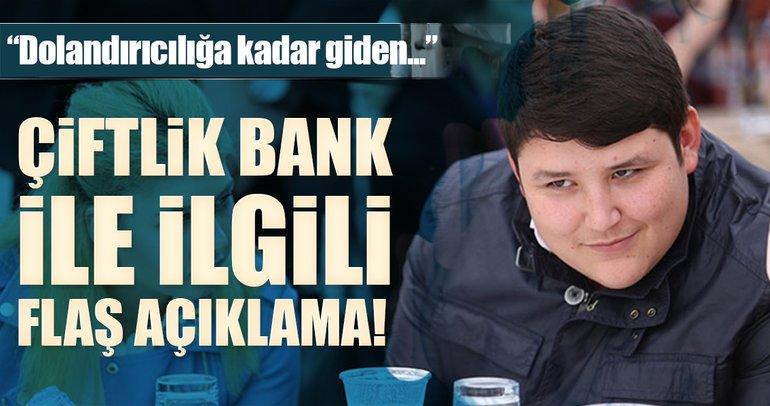 Son dakika: Bakan Tüfenkci'den flaş Çiftlik Bank açıklaması