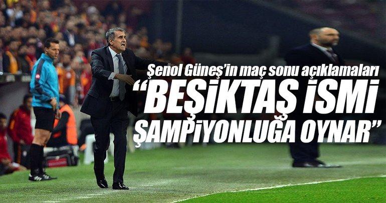 Beşiktaş ismi zaten şampiyonluğa oynuyor