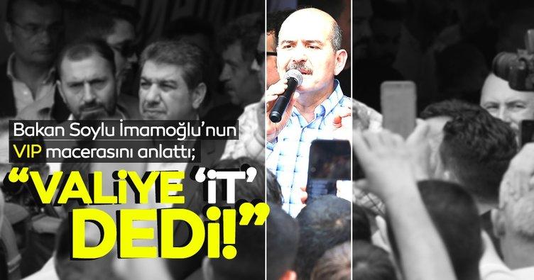 Bakan Soylu'dan İmamoğlu'nun VIP salonuna alınmamasıyla ilgili açıklama: Valiye 'it' dedi