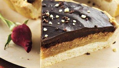 Cevizli ve Çikolatalı Tart
