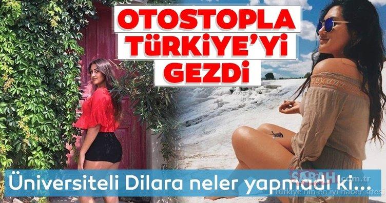 Üniversiteli Dilara Özkan hayran bıraktı! Türkiye'nin her yerini otostopla gezdi... İşte o kareler