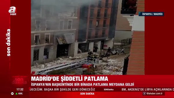 SON DAKİKA: İspanya'nın başkenti Madrid'te şiddetli patlama! Olay yerinde canlı yayınla ilk görüntüler...   Video