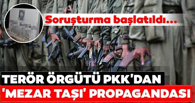 Son dakika: Terör örgütü PKK'dan 'Mezar Taşı' propagandası! Soruşturma başlatıldı