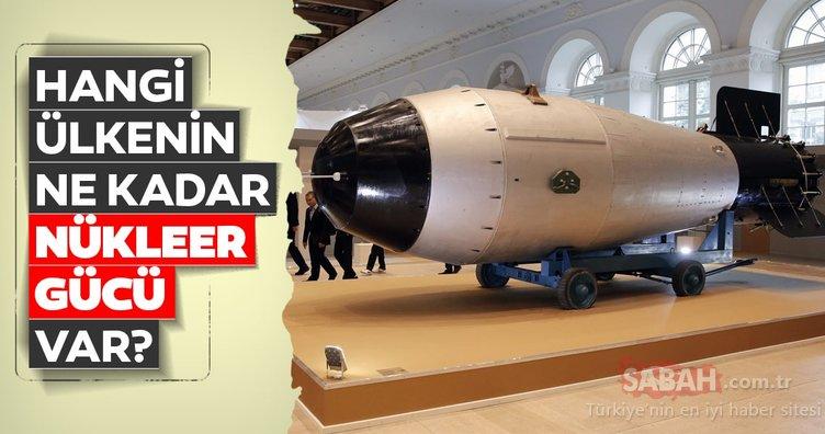 Hangi ülkede ne kadar nükleer güç bulunuyor? İşte ülkelerin nükleer güçleri...