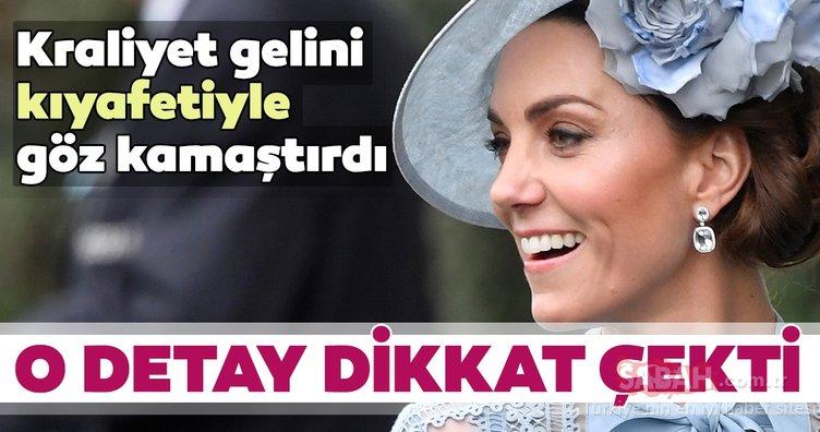 Kraliyet gelini Kate Middleton kıyafetiyle göz kamaştırdı! İşte Royal Ascot Yarışları'ndan görüntüler...