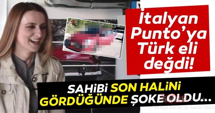 Fiat Punto'sunu Türk ustalara emanet etti! Son halini gördüğünde şoke oldu...