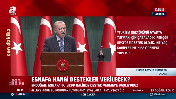 Son Dakika Haberi... Başkan Erdoğan duyurmuştu! Esnafa destek paketinin detayları belli oldu | Video