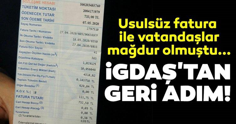 Son dakika haberi | Usulsüz fatura ile vatandaşlar mağdur olmuştu...İGDAŞ'tan geri adım
