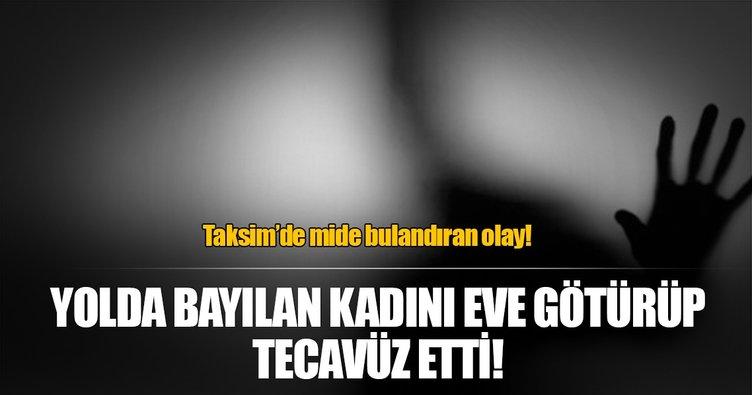 Taksim'de mide bulandıran olay!