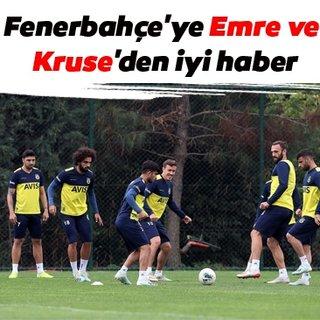 Fenerbahçe'ye Emre ve Kruse'den iyi haber