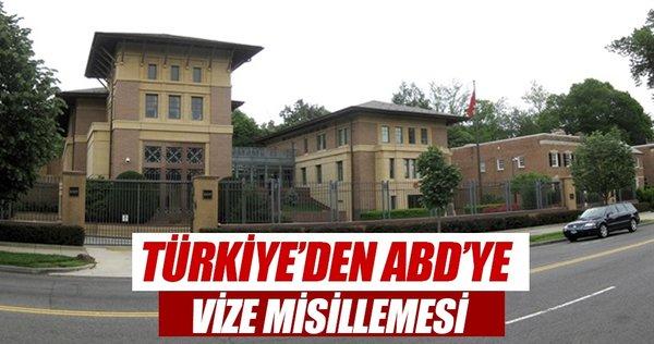 Türkiye'den ABD'ye vize misillemesi!