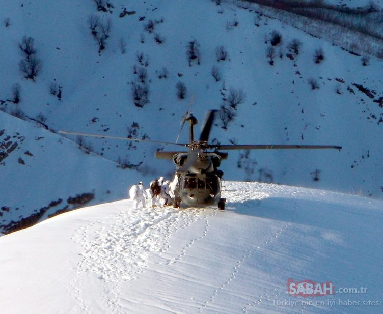 2 metre karda terör operasyonu