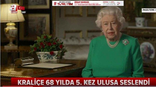 İngiltere Kraliçesinden Korona Mesajı! 68 Yılda 5. Kez Ulusa Seslendi!
