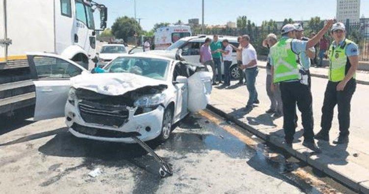 Ankara'da kaza: 3 yaralı
