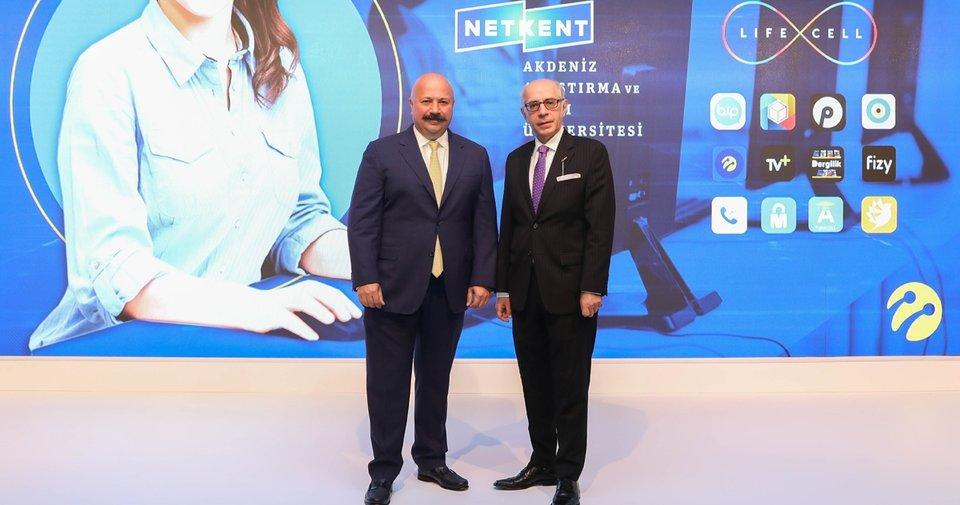 Netkent ve Turkcell güçlerini dijital üniversite eğitimi için birleştirdi