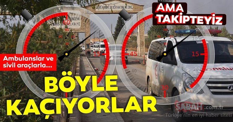 PKK/YPG'liler için geri sayım sürüyor. Teröristler Rasulayn'dan ambulanslar ve sivil araçlarla kaçıyor