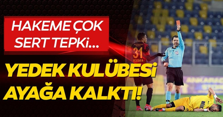 SON DAKİKA | Galatasaray'da Mostafa Mohamed'e kırmızı kart şoku! Hakeme büyük tepki!