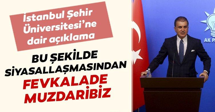 AK Parti'den İstanbul Şehir Üniversitesine dair açıklama