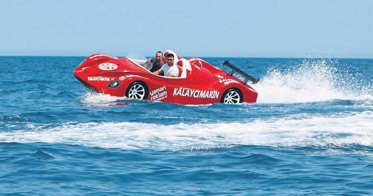 Deniz otomobili testleri geçti