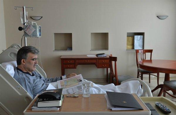 Cumhurbaşkanı Abdullah Gül hastanede