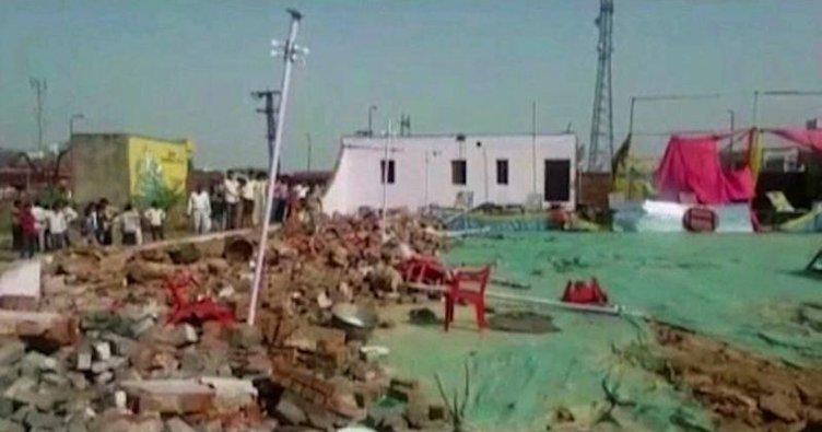 Düğün salonunun duvarı çöktü: 24 ölü