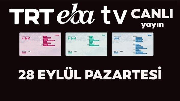 TRT EBA TV canlı izle! (28 Eylül 2020 Pazartesi) 'Uzaktan Eğitim' Ortaokul, İlkokul, Lise kanalları canlı yayın | Video