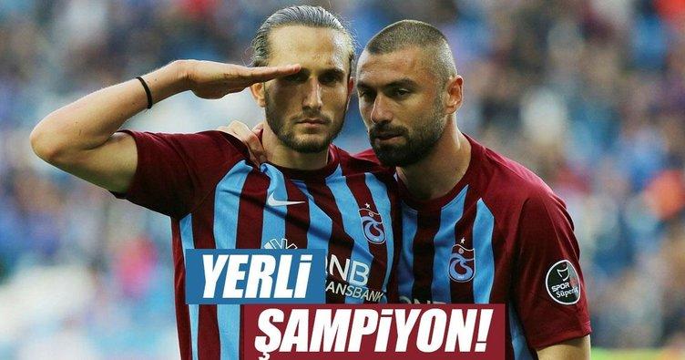 Spor Toto Süper Lig'de yerli şampiyon: Trabzonspor