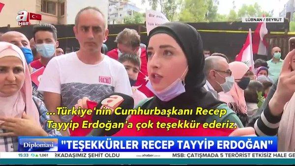 Beyrut'ta Başkan Erdoğan sevgisi...
